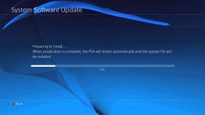 Playstation 4 reparatie, Software update